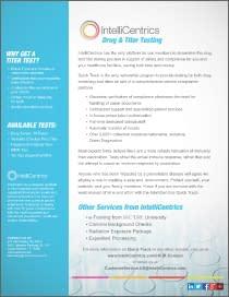 IntelliCentrics Drug & Titer Testing