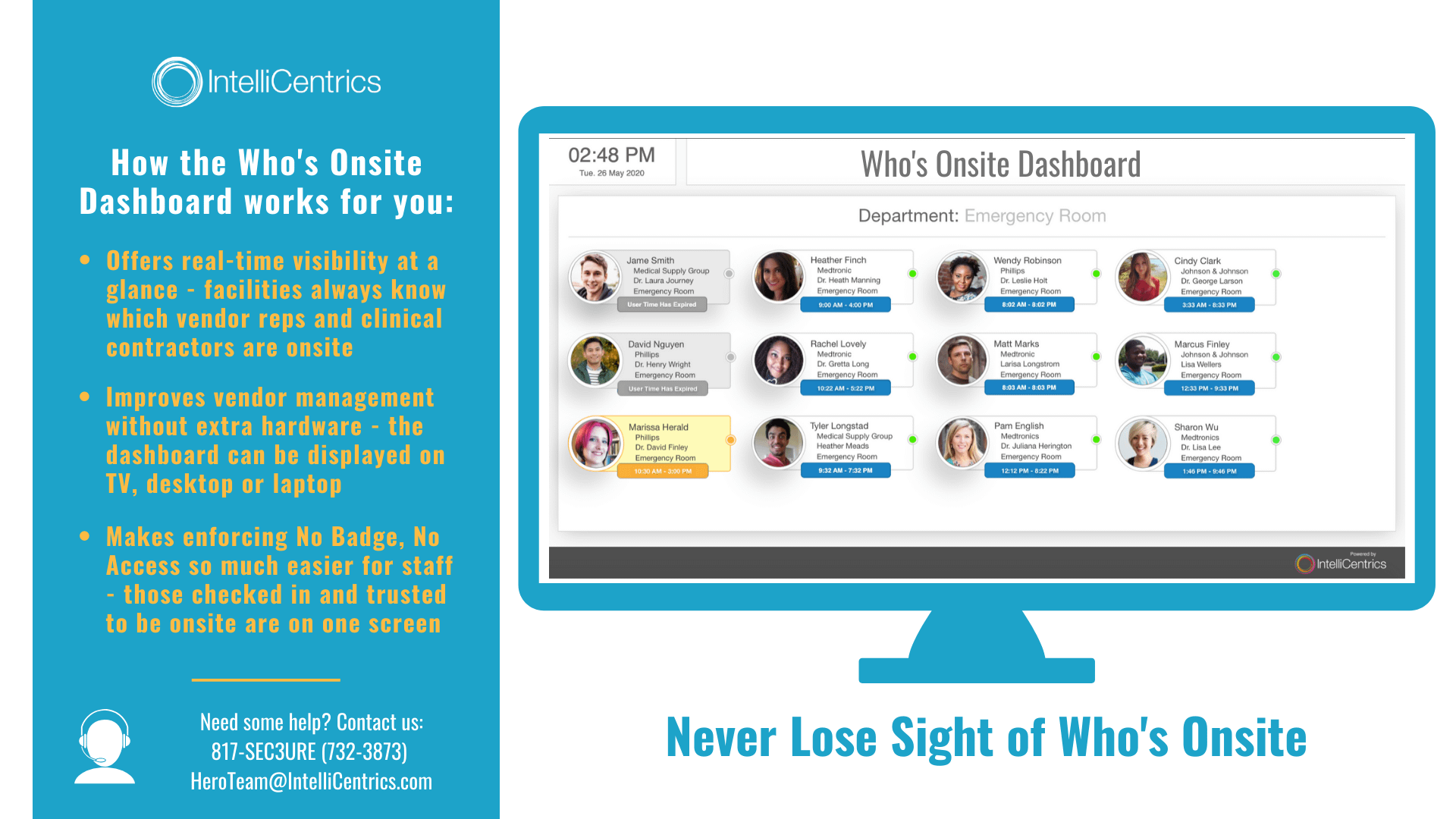 Who's Onsite Dashboard