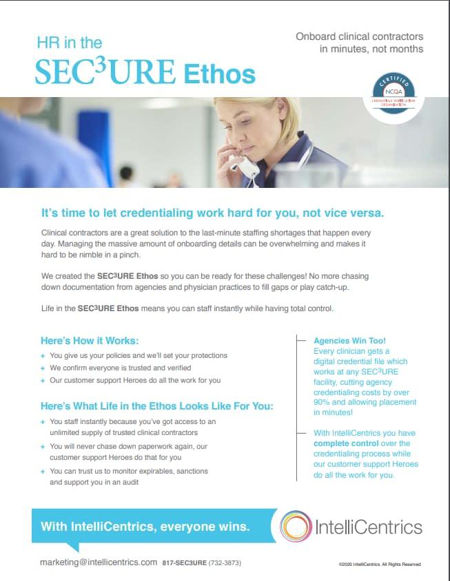 SEC3URE Ethos For HR